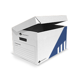 flip-top archive box. Designed with hand-holes to facilitate the lifting and carryingof the carton, the cardboard single-piece archive box is suitable for archiving files, folders, sleeves, etc. while keeping your items dust-free.